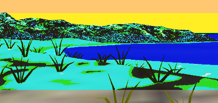 L'île eau, une île en 3D VRML