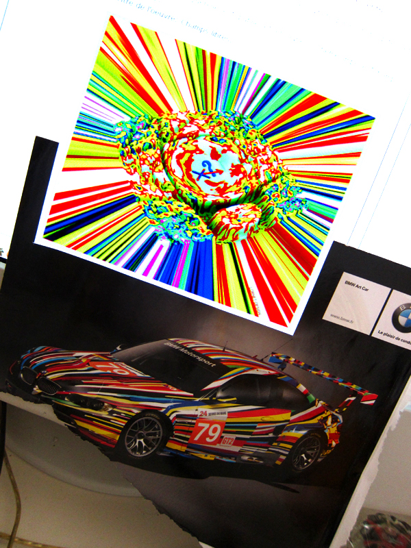 Champs libres versus Koons BMW art car.