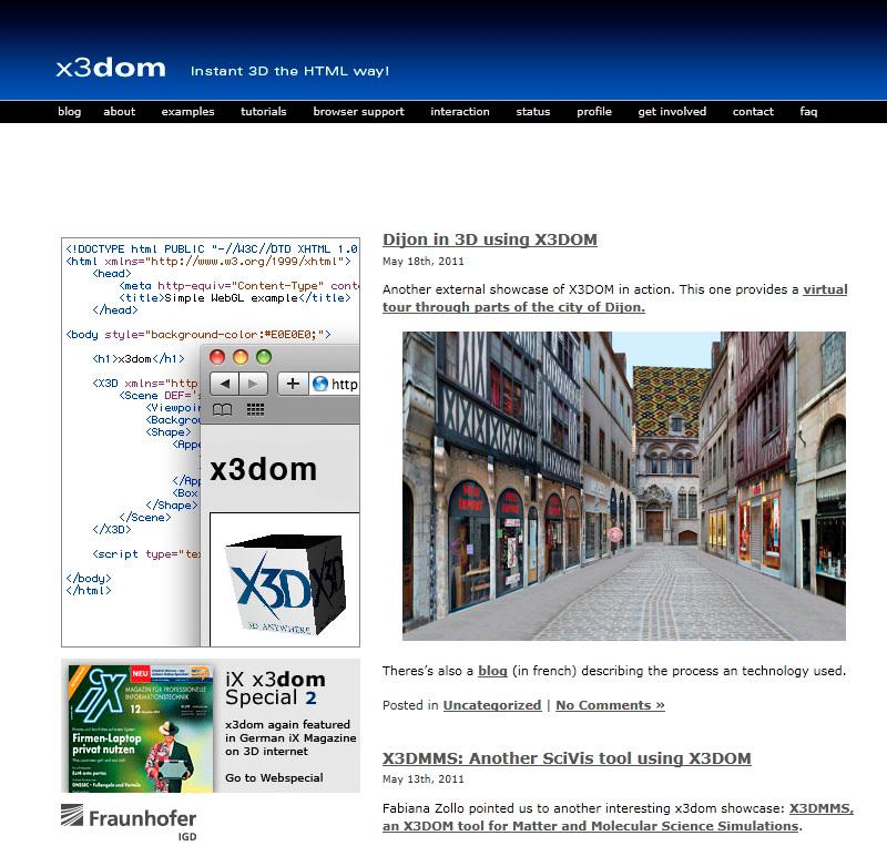 x3domblog Dijon 3d sur le blog x3dom.org