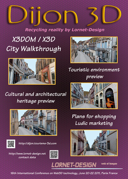 affiche dijon 3d web3d 2011 Web 3d 2011, un nouveau souffle