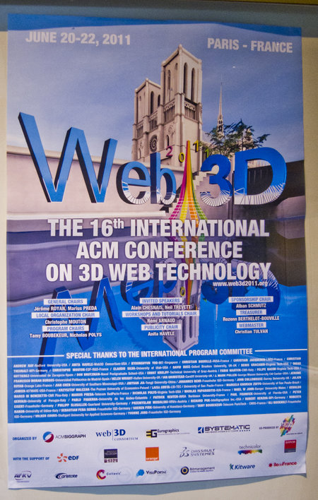 Affiche Web3D conférence 2011 Paris