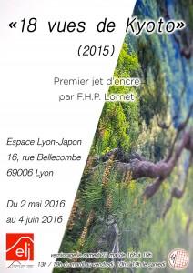 Affiche: 18 vues de Kyoto à l'espace Lyon-Japon