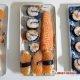 Sushis, sashimis et makis de saumon.